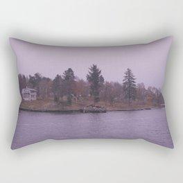 Stockholm on a ship Rectangular Pillow