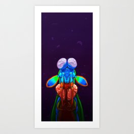 Intense Mantis Shrimp Art Print