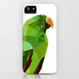 Eclectus parrot Geometric bird art iPhone Case
