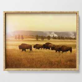 Bison at Yellowstone Serving Tray