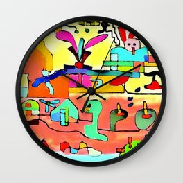 The glutton Wall Clock