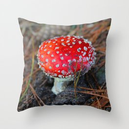 Toxic Beauty Throw Pillow