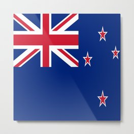 Flag of new zealand 3 -zealand,New Zealander,Kiwi,wellington,Auckland. Metal Print