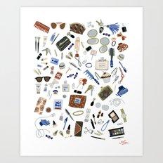 Girly Objects Art Print
