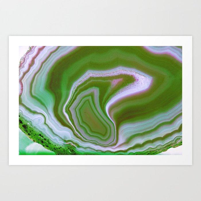 green colored agate Art Print