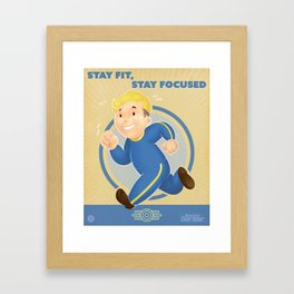 Stay Fit, Stay Focused Framed Art Print