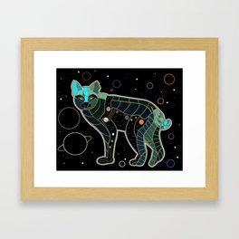 Space Bobcat Framed Art Print