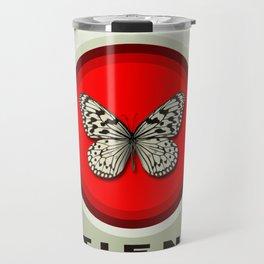 Fruit of the Spirit, Patience (Red & Ecru) Travel Mug
