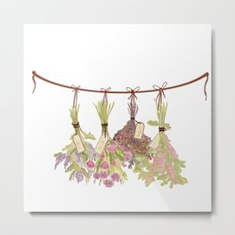 herbs in pastel colors . Metal Print