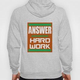 Answer - Hard Work -- Orange Hoody