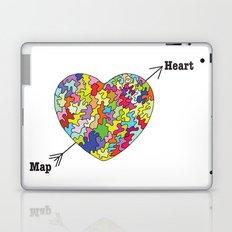 Heart Map Laptop & iPad Skin