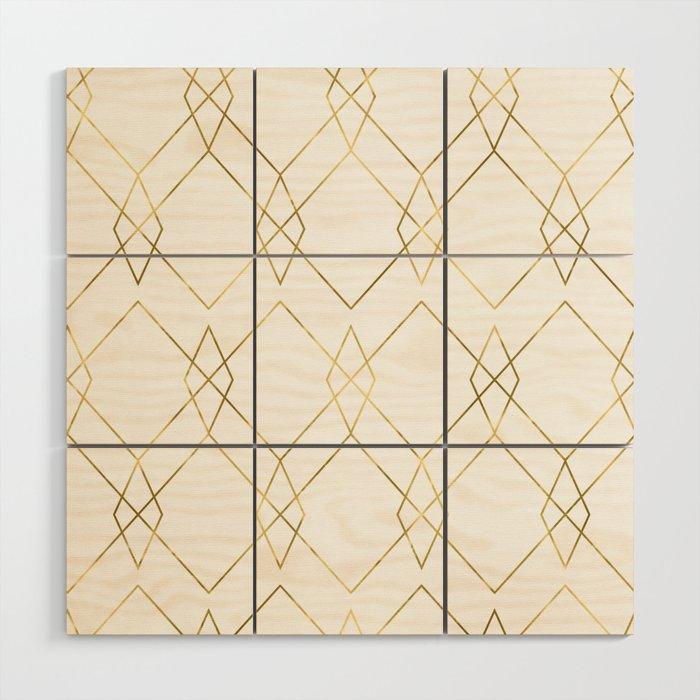 Gold Geometric Wood Wall Art By Followmeinstead