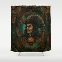captain hook Shower Curtains featuring Hook by ManuelDA