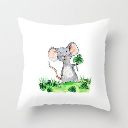 Melvin the Mouse Throw Pillow