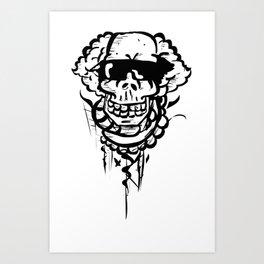 Skater Skull Art Print