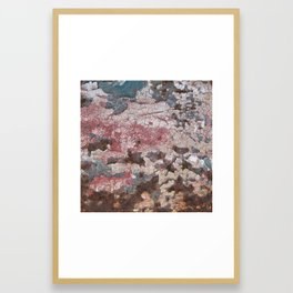 Cracking Paint and Rust Abstract Framed Art Print
