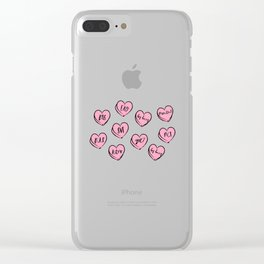 kpop heart Clear iPhone Case
