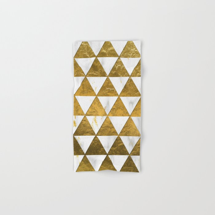 Marble and Gold Pattern #3 Hand & Bath Towel