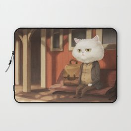A cat waiting for someone Laptop Sleeve