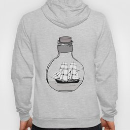Ship in the Glass Bulb for Home Decor and Apparel Hoody