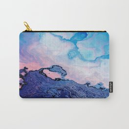 BLUE AND PINK PAINT MIXING Carry-All Pouch