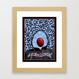 "Toy Boy II (Magritte + Haring) ""VACANCY zine"" Framed Art Print"