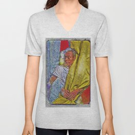Harlem Renaissance 'James Baldwin' Portrait by Jeanpaul Ferro Unisex V-Neck