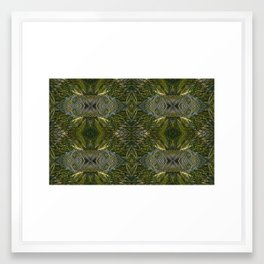 Coconut Leaf Collage Framed Art Print