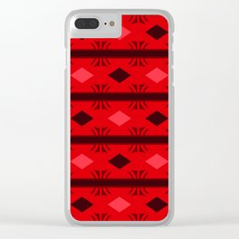 Rubies and Diamonds Celebration Clear iPhone Case