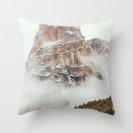 Panorama in Alta Badia, Alto Adige, Italian Alps Throw Pillow