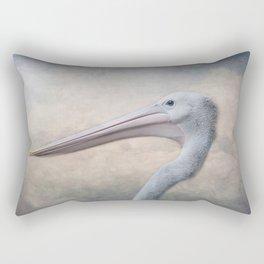 Portrait of a Pelican Rectangular Pillow