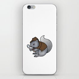 Squirrel-lock Holmes iPhone Skin