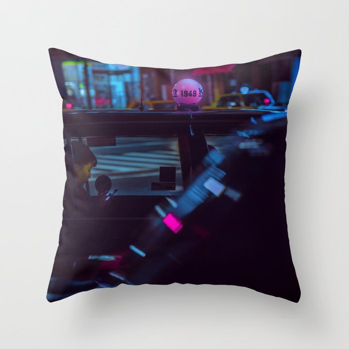 Tokyo Nights / Roppongi Nights / Liam Wong Throw Pillow