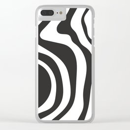Black and White Swirl Pattern Clear iPhone Case