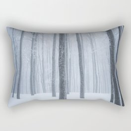 Foggy frozen winter forest Rectangular Pillow