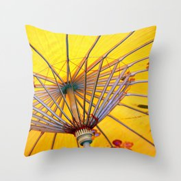Asia Umbrella Throw Pillow