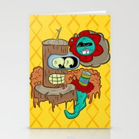 bender Stationery Cards featuring Wooden Bender by TheArtistKAFA