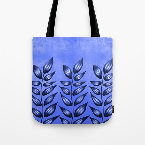 Blue Plant With Pointy Leaves Tote Bag