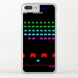 Invaders game Clear iPhone Case