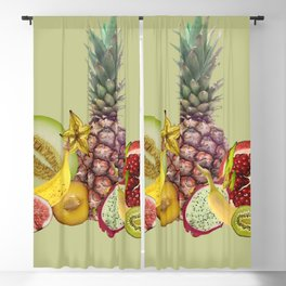 Fresh Fruits summer Selection - green Blackout Curtain