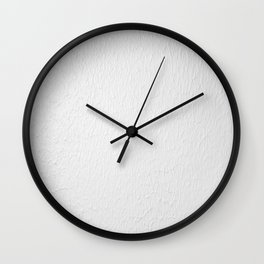 Clear White Texture Paint , The Best is White Shower Curtain Wall Clock