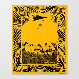 No fly zone. Canvas Print