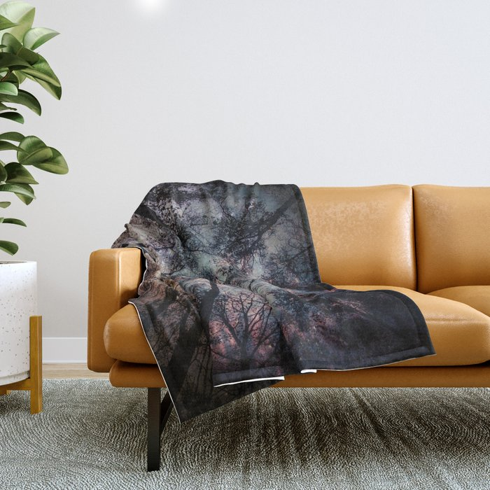Starry Sky in the Forest Throw Blanket