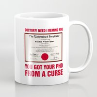 regina mills Mugs featuring Regina Sassy Mills | You got your PhD from a curse by CLM Design