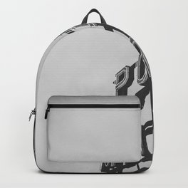 Seattle Pike Place Public Market Black and White Backpack