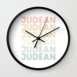 Judean In A Retro Style Wall Clock