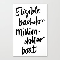 Eligible Bachelor (invert) Canvas Print