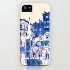 Blue Buildings Slim Case iPhone (5, 5s)