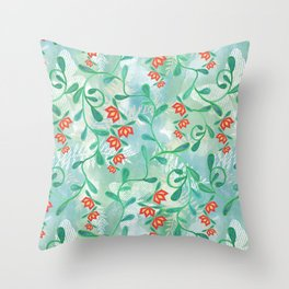 Floral pattern. 4 Throw Pillow
