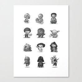 Star Kids Wars Canvas Print